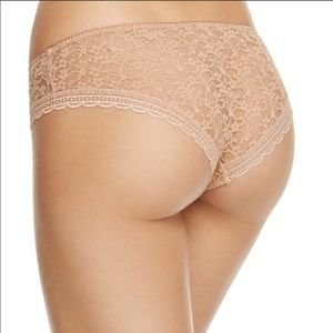 NEW free people lace hipster in nude